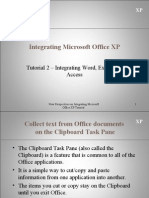 Integrating Word Excel Access