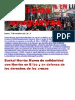 Noticias Uruguayas Lunes 7 de Octubre Del 2013
