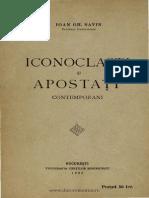 Ioan Gh Savin Iconoclasti Si Apostati Contemporani 1932
