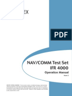 Aeroflex 4000 NAVCOMM Test Set Operation Manual