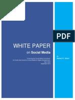 White Paper on Social Media