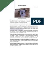 Arte Publico y Memoria - 2013 - Pertuz