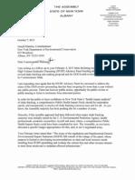 Letter to Commissioner Joe Martens October 7, 2013