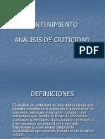 Analisis de Criticidad
