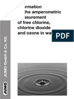 Measurement Free Chlorine, Chlorine Dioxide n Ozone in Water