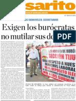 Exigen Los Burocratas No Mutilar Sus Derechos