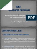 Test Progresiones Numericas