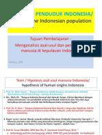 Asal Usul Penduduk Indonesia