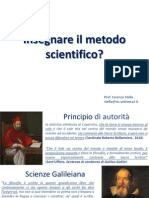 Insegnare Il Metodo Scientifico