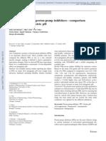 Relative potency of proton-pump inhibitors—comparison