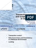 Transactions in Oracle Evgenya Kotzeva[1]
