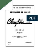 Clayton Electric Steam Generator Manual Ge-16