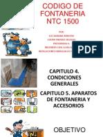 Codigo de Fontaneria Capitulo 4 y 5 Presentacion