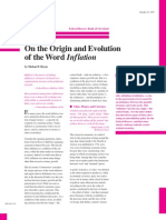 On the Origin and Evolution of the Word Inflation