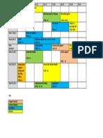 Timetable 2013 Mental Health