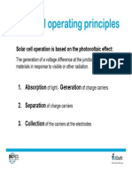 Solar cell operating principles