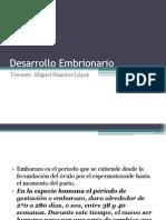 Unidad 2. Desarrollo Embrionario y Fetal