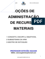 ADMINISTRAÇÃO DE RECURSOS MATERIAIS_Prof. Estevão Aguiar