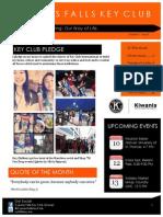 Cypress Falls Key Club September Newsletter