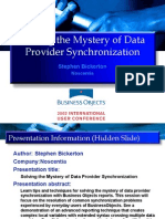 Solving the Mystery of Data Provider Synchronization