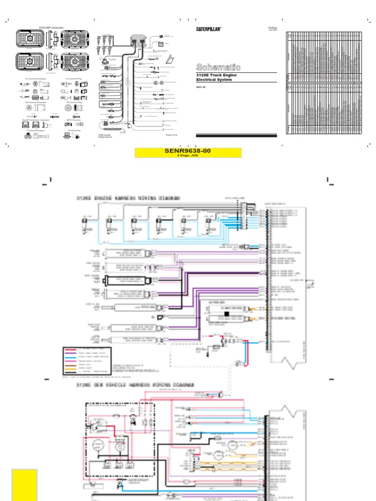 3126 Caterpillar Wiring Diagrams Diagram Electricity Cat 3126b Illustration Of U2022 Rh Davisfamilyreunion Us Ecm