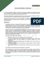 PMP Requisitos Restricoes Premissas