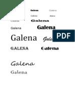 Galena Galena Galena