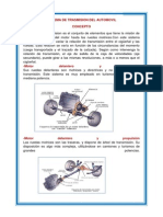 Sistema de Trasmision Del Automovil