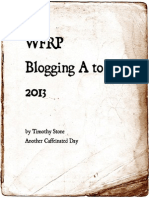2013 Blogging A to Z