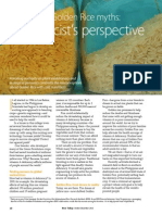 Rice Today Vol. 12, No. 4 Debunking Golden Rice myths; a geneticist's perspective