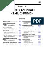 Engine Overhaul 2.4l Engine