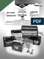Batterie, Caricabatterie E Lampade - Catalogo 2010
