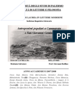 Antroponimi Popolari a Cammarata e a San Giovanni Gemini