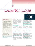 Quilting Quarter Logs