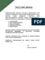 Contoh Sinopsis Proposal Skripsi