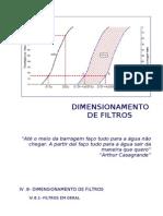 IV.8- Dimensionamento de Filtros