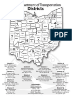 Ohio DOT District Map and Contact Information