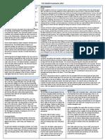 WSJ Market Summaries 2012 Cheat Sheet