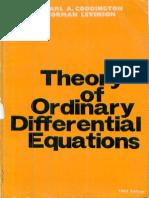 Coddington E. , Levinson N. - Theory of ordinary differential equations.pdf