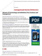 Business and Management Dictionary and Glossary of Terminology, Words, Terms, And Definitions - Mian Terms and Unsusual Amusing Business-speak