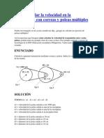 Cómo calcular la velocidad en la transmisión con correas y poleas múltiples.pdf