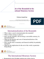 RMB internationalisation
