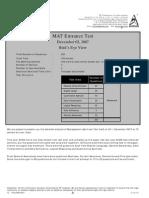MAT 2007 Analysis