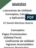 Impuestos Coeficiente de Utilidad 2013