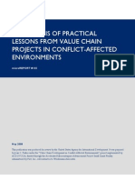 mR 105 - A Synthesis of Practical Lessons From Value Chain Projects in Conflict-Affected Environments