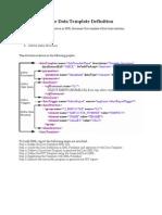 XML Data Template