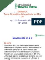 Cinematica de La Particula en 2D y 3D DIN 1