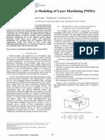 3D Finite Element Modeling of Laser Machining PMMA