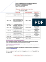 July to Dec 2009 PGH Seminars and Trainings