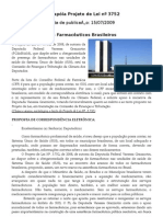 CFF apóia Projeto de Lei nº 3752, veja mais...